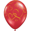 "11"" Ruby Red Romantic Hearts Latex Balloons x product link"