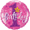"""18"""" Pink 1st Bday Balloon overview"""