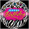 "18"" Birthday Leopard Zebra Patterns Foil Ball product link"