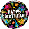 "18"" Shooting Stars Happy Birthday Foil Balloo product link"