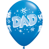 "11"" Dad You're The Best Star Print Latex x 25 product link"