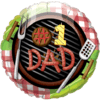 "18"" #1 Dad BBQ Balloon overview"
