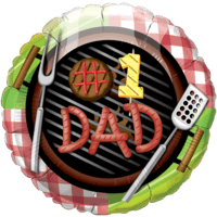 "18"" #1 Dad BBQ Balloon"