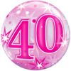 40th Pink Starburst Sparkle Balloon product link