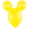 """50 x 15"""" Yellow Mickey Shape Latex overview"""