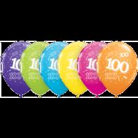 "11"" 100th Tropical Assortment Latex x 25"
