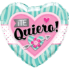 Te Quiero - Aqua Zebra Stripes product link