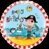 "18"" Rachel Ellen - Birthday Pirate Foil Ballo product link"