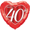 Happy 40th Damask Heart product link