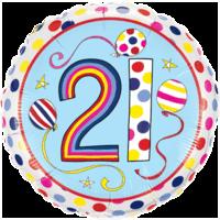 "18"" Rachel Ellen 21st Balloon"