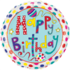 """18"""" Stripes and Polka Dots Birthday Foil Ball product link"""