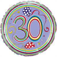 "18"" Rachel Ellen 30th Balloon"