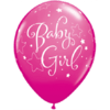 """11"""" Pink and Berry Baby Girl Stars Latex Ball product link"""