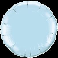 "18"" Round Pearl Light Blue Foil Balloon"