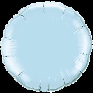"18"" Pearl Light Blue foil Round Balloon"