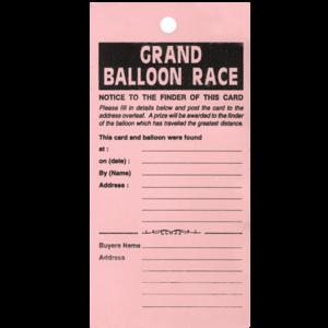 Balloon Race Labels x 100