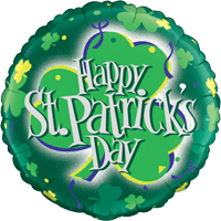 "18"" Happy St Patrick's Shamrock Balloon"