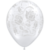 "11"" Diamond Clear Glitter Roses Latex Balloon product link"