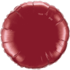 "18"" Burgundy Round Foil Balloon product link"