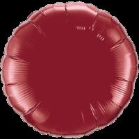 """18"""" Round Burgundy Foil Balloon"""