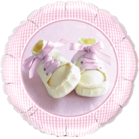 """18"""" Pink Baby Shoes Balloon"""
