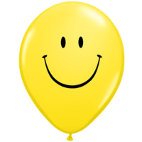 "11"" Yellow Smiley Faces x 50"