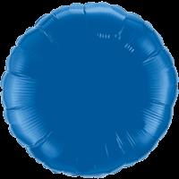 """18"""" Round Dark Blue Foil Balloon"""
