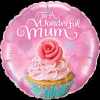 """18"""" Wonderful Mum Cupcake Balloon"""