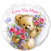 "18"" Love you Mum Teddy Balloon"