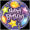 "18"" Birthday Stars & Balloons Foil Balloon product link"