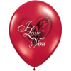 "11"" Ruby Red I Love You Red Rose Latex x 25 product link"