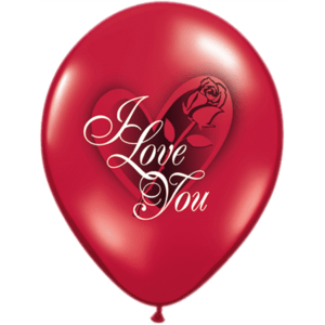 """11"""" Ruby Red I Love You Red Rose Latex x 25 Product Display"""