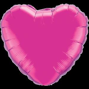 "18"" Magenta foil Heart Balloon"