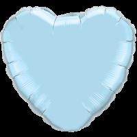 "18"" Heart Pearl Light Blue Foil Balloon"
