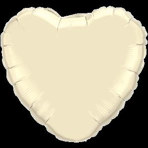 "18"" Pearl Ivory foil Heart Balloon"