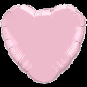 "18"" Pearl Pink foil Heart Balloon"