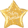 """18"""" Merry Christmas Gold Balloon overview"""