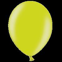 "12"" Custom Printed Metallic Apple Green Latex Balloons"