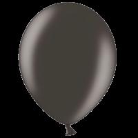 "12"" Custom Printed Metallic Black Latex Balloons"