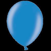 "12"" Custom Printed Metallic Blue Latex Balloons"