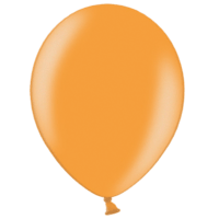 "12"" Custom Printed Metallic Bright Orange Latex Balloons"