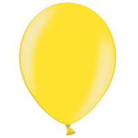 "12"" Custom Printed Metallic Citrus Yellow Latex Balloons"