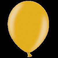 "12"" Custom Printed Metallic Gold Latex Balloons"