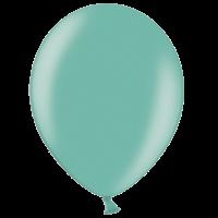 "12"" Custom Printed Metallic Green Latex Balloons"