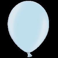 "12"" Custom Printed Metallic Light Blue Latex Balloons"