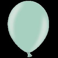 "12"" Custom Printed Metallic Light Green Latex Balloons"