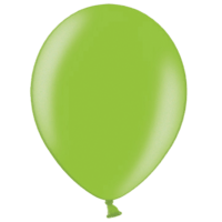 "12"" Custom Printed Metallic Lime Green Latex Balloons"