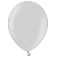 "12"" Custom Printed Metallic Silver Latex Balloons"