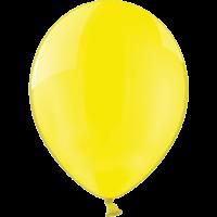"12"" Custom Printed Crystal Yellow Latex Balloons"