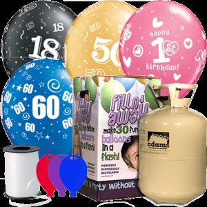 Birthday Age Latex Balloon Pack